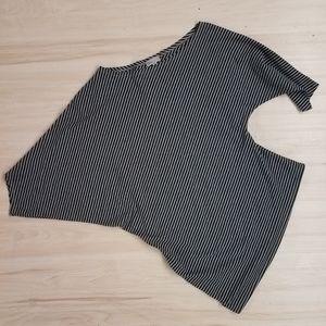 Linea Domani striped top women's size medium